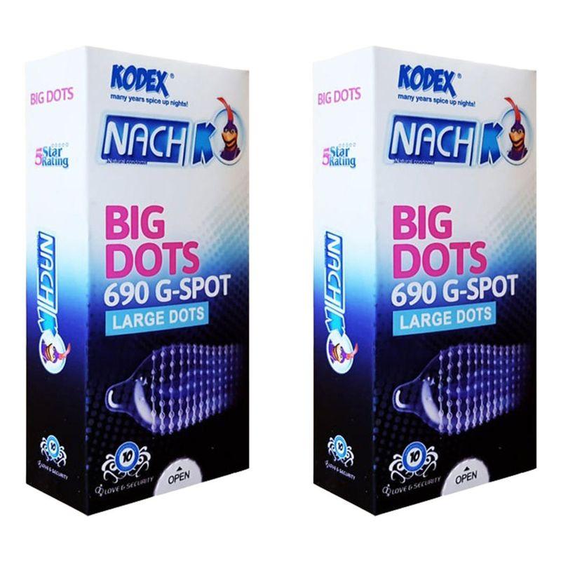 کاندوم 12 عددی ناچ کدکس مدل Big Dots مجموعه دو عددی